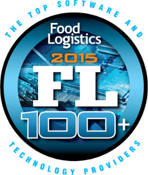 Top 100 food logistics provider badge awarded to PINC for yard management excellence