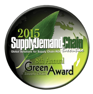The Supply & Demand Chain Executive 2015 8th Annual Green Supply Chain Award Badge, bestowed upon PINC for instituting sustainable practices in supply chain execution.