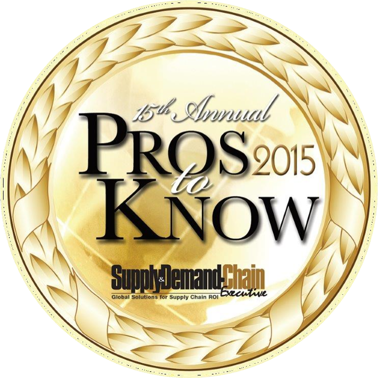 The Supply & Demand Chain Executive 2015 Pro to Know Badge, awarded to PINC's CEO Matt Yearling for making significant contributions toward enhancing supply chain excellence.