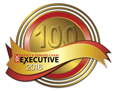 The 2016 Supply & Demand Chain Executive 100 Badge, awarded to PINC for transforming the supply and demand chain.