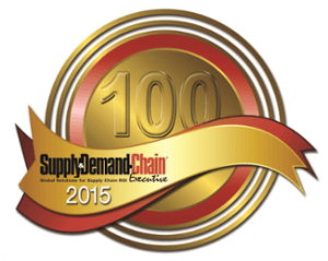 The Supply & Demand Chain Executive 100 2015 Badge, awarded to PINC for its contributions to supply chain execution.