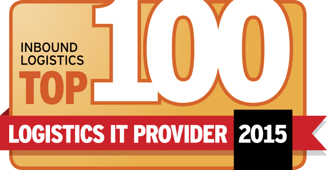 The Inbound Logistics 2015 Top 100 IT Providers Badge, awarded to PINC for its leadership in supply chain execution simplicity, scalability, ease of implementation, and fast ROI.