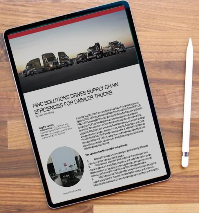 ipad showing PINC report