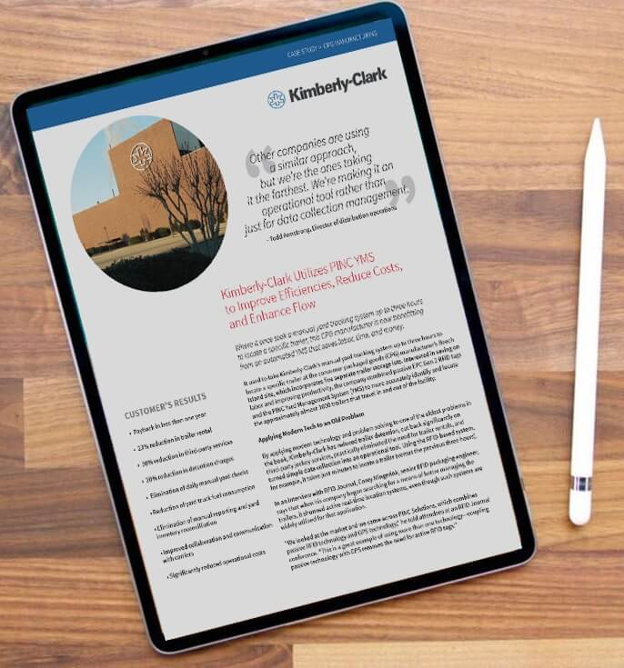 ipad showing Kimberly-Clark case study