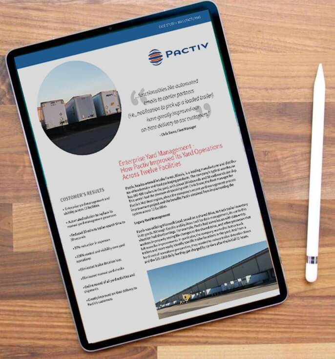 ipad showing Pactiv case study