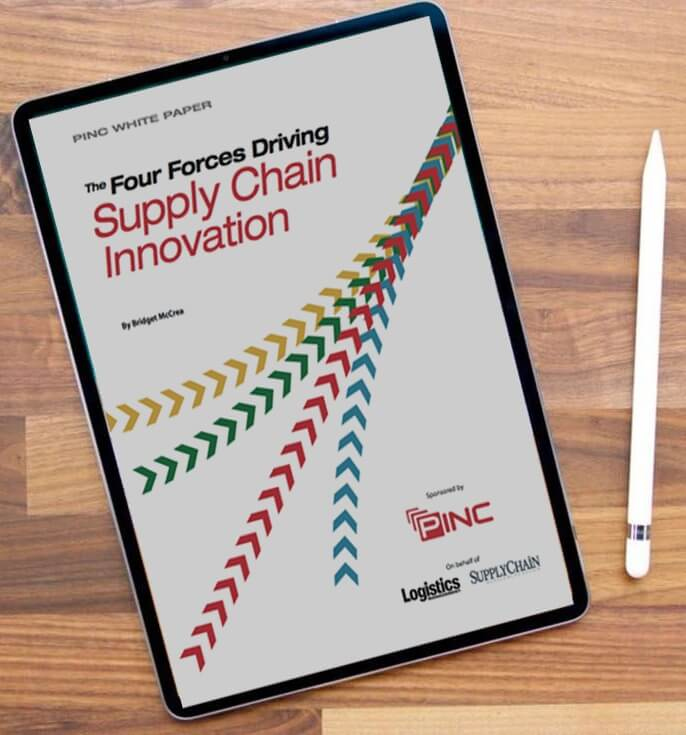 ipad showing PINC supply chain white paper
