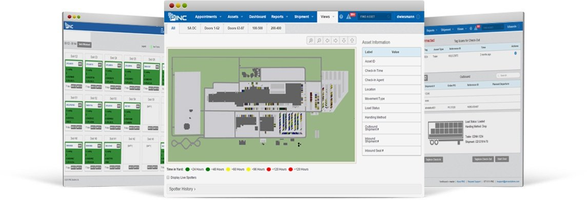 Yard management system interface