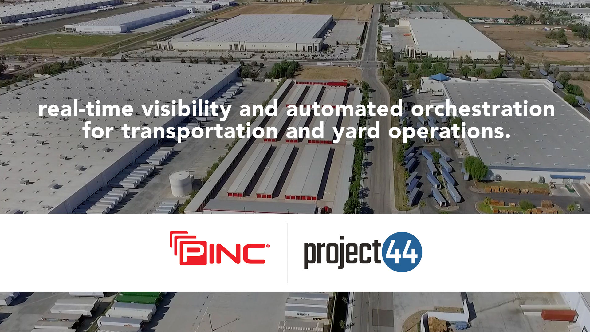 PINC and project44 partner to deliver the next generation of yard automation and predictability